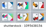 brochure design triangles... | Shutterstock .eps vector #1095638156