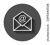 mail envelope vector icon.... | Shutterstock .eps vector #1095640538