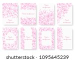 collection of backgrounds with... | Shutterstock . vector #1095645239