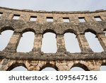 historic building of roman... | Shutterstock . vector #1095647156