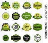 collection of vegetarian food... | Shutterstock .eps vector #109564784