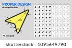 navigation icon set proper... | Shutterstock .eps vector #1095649790