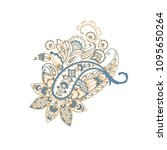 vector isolated indian pattern... | Shutterstock .eps vector #1095650264
