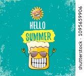 vector cartoon funky beer glass ... | Shutterstock .eps vector #1095659906