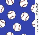 baseball seamless doodle pattern | Shutterstock .eps vector #1095660788