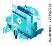 modern isometric concept for... | Shutterstock .eps vector #1095667388