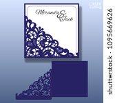 die laser cut wedding card... | Shutterstock .eps vector #1095669626