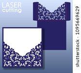 die laser cut wedding card... | Shutterstock .eps vector #1095669629
