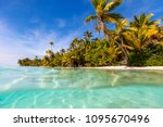 stunning tropical island with... | Shutterstock . vector #1095670496