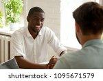 smiling african american worker ... | Shutterstock . vector #1095671579
