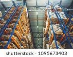 large logistics hangar...   Shutterstock . vector #1095673403