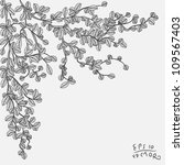 drawing branch with leaves...   Shutterstock .eps vector #109567403