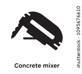 concrete mixer icon isolated on ... | Shutterstock .eps vector #1095676610