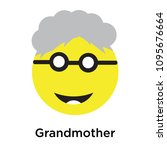 grandmother icon isolated on... | Shutterstock .eps vector #1095676664