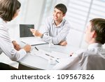 young business people working... | Shutterstock . vector #109567826