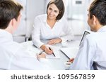 group of business people busy... | Shutterstock . vector #109567859