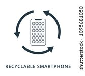 recyclable smartphone icon....