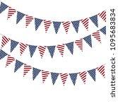 festive garlands of american... | Shutterstock .eps vector #1095683834