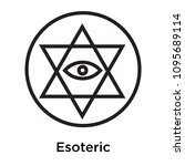 esoteric icon isolated on white ... | Shutterstock .eps vector #1095689114