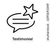 testimonial icon isolated on...   Shutterstock .eps vector #1095691049