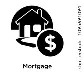 mortgage icon isolated on white ... | Shutterstock .eps vector #1095691094