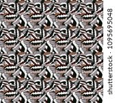 pattern on gray  white and... | Shutterstock .eps vector #1095695048