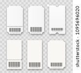blank tickets with barcodes... | Shutterstock .eps vector #1095696020