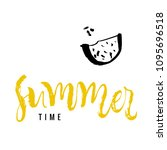 summer time. calligraphy... | Shutterstock .eps vector #1095696518