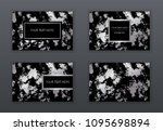 set of white  black and silver... | Shutterstock .eps vector #1095698894