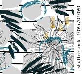 tropical  stripe  animal motif. ... | Shutterstock .eps vector #1095701090