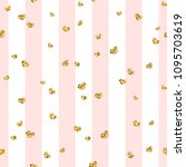 gold heart seamless pattern.... | Shutterstock .eps vector #1095703619
