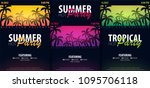 summer party backgrounds with... | Shutterstock .eps vector #1095706118