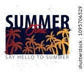 summer sale tropical banner... | Shutterstock .eps vector #1095706529