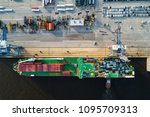 aerial view of a roll on roll... | Shutterstock . vector #1095709313