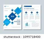 annual report  broshure  flyer  ... | Shutterstock .eps vector #1095718400