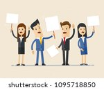 protest people crowd team man... | Shutterstock .eps vector #1095718850