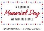 happy memorial day closed...   Shutterstock .eps vector #1095723428