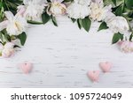 White Peonies And Pink Hearts...