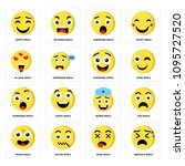 set of 16 simple editable icons ... | Shutterstock .eps vector #1095727520
