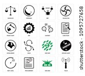 set of 16 simple editable icons ...   Shutterstock .eps vector #1095727658