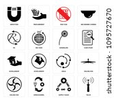 set of 16 simple editable icons ...   Shutterstock .eps vector #1095727670