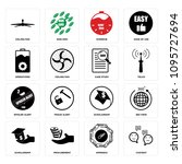 set of 16 simple editable icons ...   Shutterstock .eps vector #1095727694