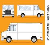 food truck blank | Shutterstock .eps vector #109572803