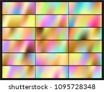 shiny foil paper. holographic... | Shutterstock .eps vector #1095728348
