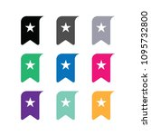 bookmark ribbon flat icon | Shutterstock .eps vector #1095732800