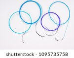 colorful surgical nylon... | Shutterstock . vector #1095735758