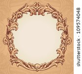vector round frame in vintage... | Shutterstock .eps vector #109574048