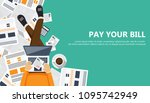 bill payment design in flat... | Shutterstock .eps vector #1095742949