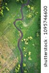aerial view of natural river in ... | Shutterstock . vector #1095746600