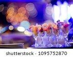 glass shots pastry  wedding... | Shutterstock . vector #1095752870
